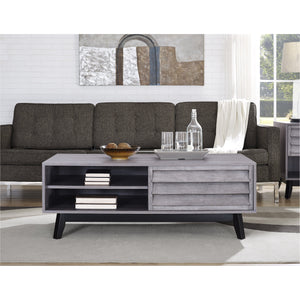Dorel Home Vaughn Range Coffee Table in Grey Oak