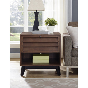 Dorel Home Vaughn Range Accent Table in Walnut