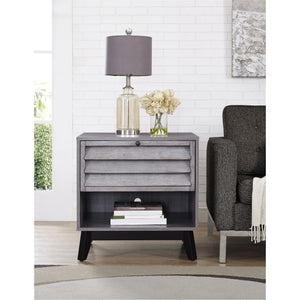 Dorel Home Vaughn Range Accent Table in Grey Oak