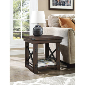 Dorel Home Wildwood Range End Table in Espresso