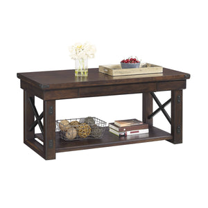 Dorel Home Wildwood Range Coffee Table in Espresso