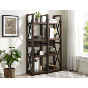 Dorel Home Wildwood Range Bookshelf in Espresso
