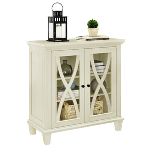 Dorel Home Ellington Range Accent Cabinet in Ivory