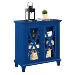 Dorel Home Ellington Range Accent Cabinet in Blue