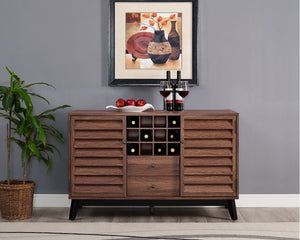 Dorel Home Vaughn Range Wine Cabinet in Walnut