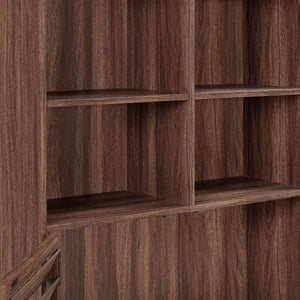 Dorel Home Vaughn Range Bookcase in Walnut