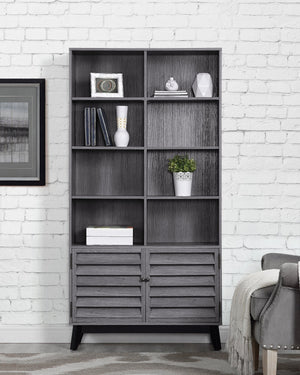 Dorel Home Vaughn Range Bookcase in Grey Oak