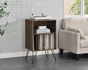Dorel Home Concord Range Turntable Stand in Walnut