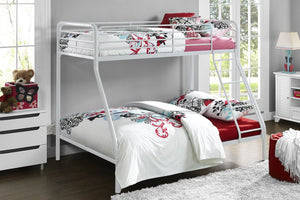 Dorel Home Single over Double Bunk Bed in White