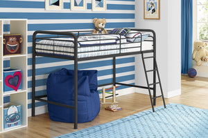 Dorel Home Single Midsleeper Bunk Bed in Black