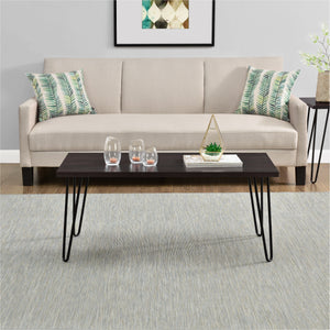 Dorel Home Owen Range Retro Coffee Table in Espresso