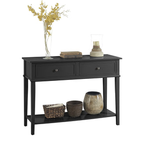 Dorel Home Franklin Range Console Table in Black