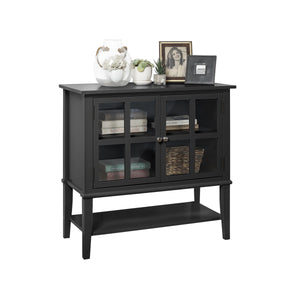 Dorel Home Franklin Range Storage Cabinet in Black
