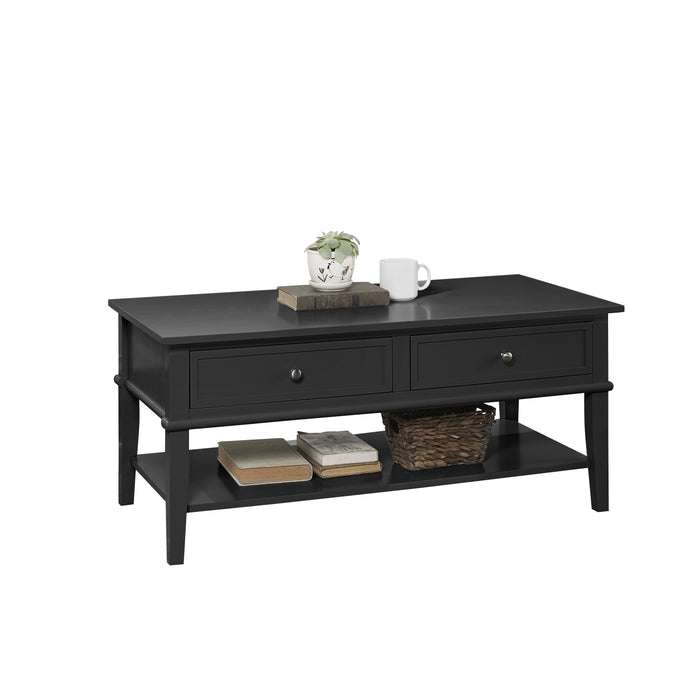 Dorel Home Franklin Range Coffee Table in Black