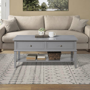 Dorel Home Franklin Range Coffee Table in Grey