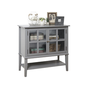 Dorel Home Franklin Range Storage Cabinet in Grey