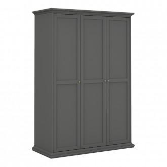 Furniture To Go Paris 3 Door Wardrobe in Matt Grey (70175353IG)