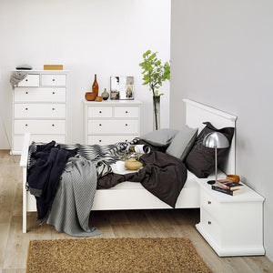 Furniture To Go Paris King Bed in White (701767154949)