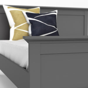 Furniture To Go Paris Double Bed in Matt Grey (70177802IG)