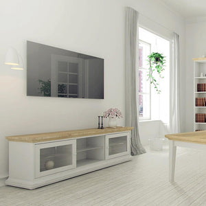 Furniture To Go Paris TV Cabinet in Oak and White (7017781149AK)