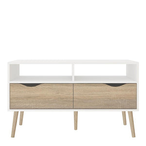 Furniture To Go Oslo TV Stand in White and Oak (7047538349AK)