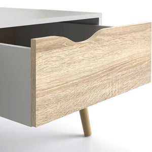 Furniture To Go Oslo Coffee Table in White and Oak (7047538449AK)