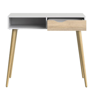 Furniture To Go Oslo Console Table in White and Oak (7047538849AK)