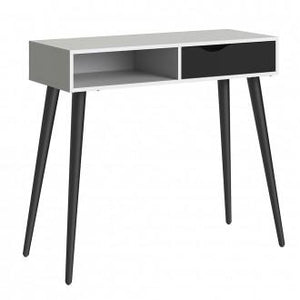 Furniture To Go Oslo Console Table in White and Black (7047538849GM)