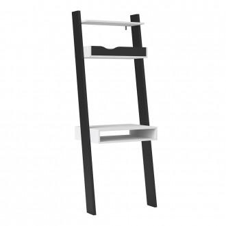 Furniture To Go Oslo Leaning Desk in White and Black (7047538949GM)
