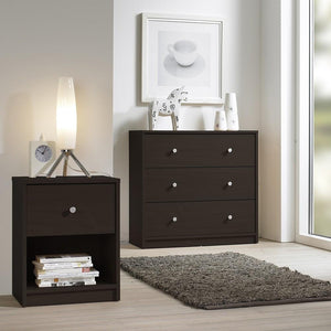Furniture To Go May 3-Drawer Chest in Dark Walnut (7087033220)