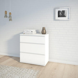 Furniture To Go Nova 3 Drawer Chest in White (7097109449)