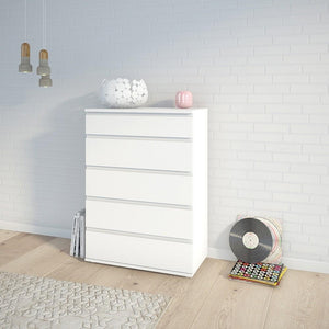 Furniture To Go Nova 5 Drawer Chest in White (7097120049)