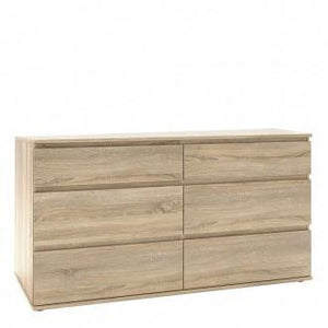 Furniture To Go Nova 6 Drawer Chest (3+3) in Oak (70971252AKAK)