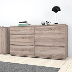 Furniture To Go Nova 6 Drawer Chest (3+3) in Truffle Oak (70971252CJCJ)
