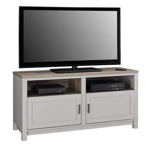 Dorel Home Carver Range TV Cabinet in Weathered Oak and Grey