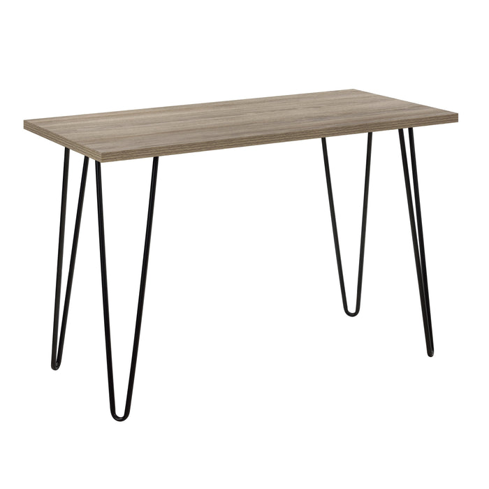 Dorel Home Owen Range Retro Desk in Rustic Oak