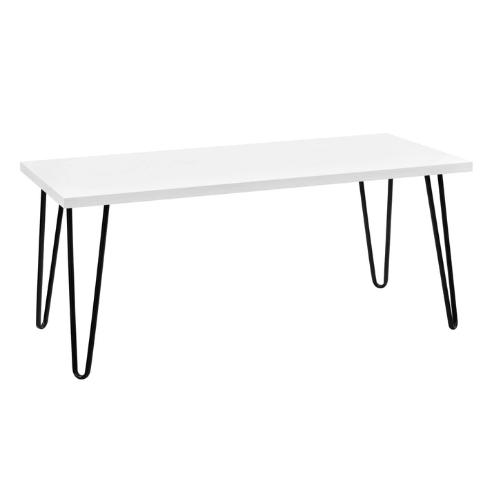 Dorel Home Owen Range Retro Coffee Table in White