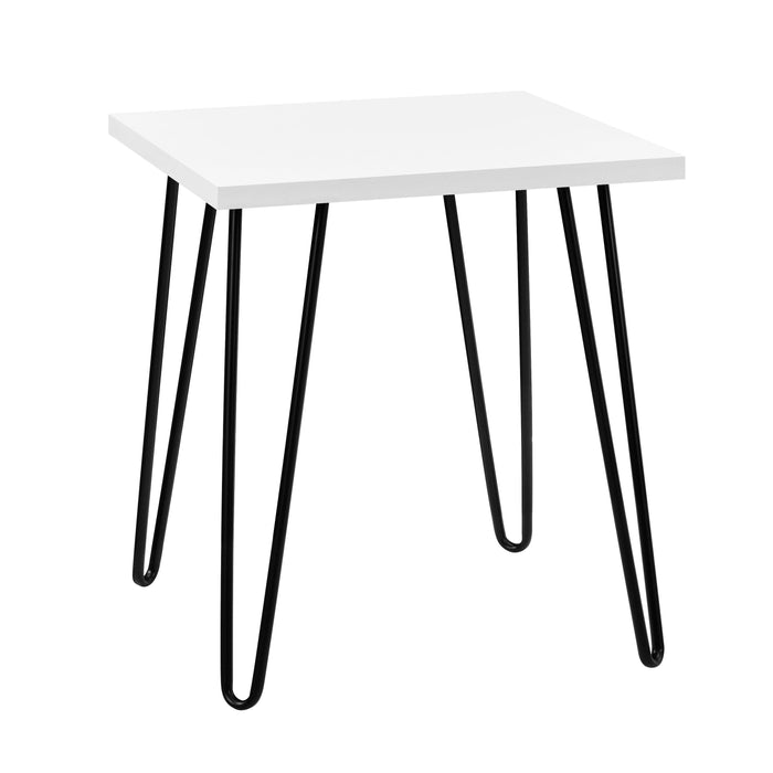 Dorel Home Owen Range Retro End Table in White