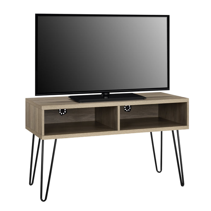 Dorel Home Owen Range Retro TV Stand in Rustic Oak