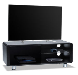 MDA Designs Amalfi 120cm Wide TV Stand in Gloss Black