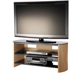 Alphason Finewoods Light Oak TV / Hifi Stand - FW1100-LO/B