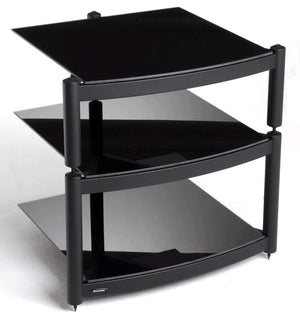 Atacama Equinox Hi-Fi RS 3-BB - 3 Shelf Hi-Fi Stand in Black
