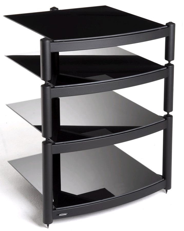 Atacama Equinox Hi-Fi RS 4-BB - 4 Shelf Hi-Fi Stand in Black