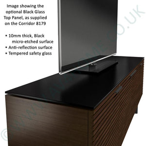 BDI Elements 8779 Tempo Charcoal Stained Ash Media Cabinet