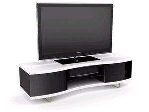 BDI Ola 8137 Satin White Curved TV Cabinet