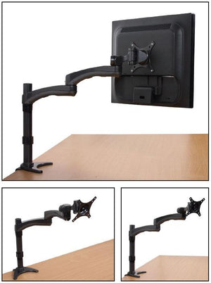 B-Tech BT7373 - Dual Arm Flat Screen Desk Mount