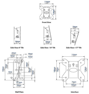 B-Tech BT7511 - VESA Tilting TV Wall Bracket for TVs up to 23inch