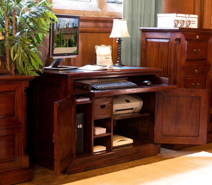 Baumhaus La Roque Mahogany Concealed Home Office Desk (IMR06A)