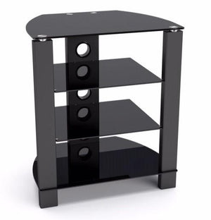 TTAP Vision 4 Shelf Hi-Fi Stand in Black with Black Glass (TVS1013)
