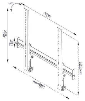B-Tech Ventry BTV511 Tilting TV Wall Mount for TVs up to 55 inch